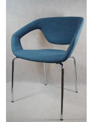 Krzesło Space tapicerowane granatowe Out let