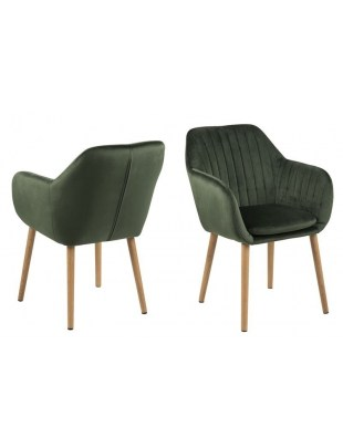 Krzesło Emilia Velvet forest green