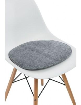 Poduszka na krzesło Side Chair szara j.