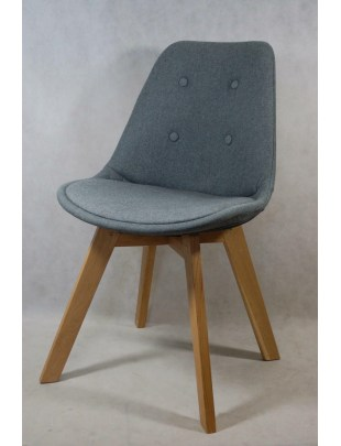 Krzesło Norden Cross pikowane szare Outl et