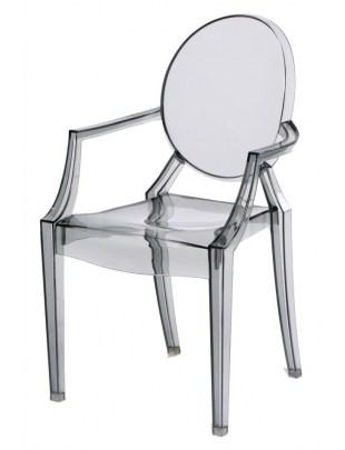 Krzesło Royal Jr. transparentny dymiony