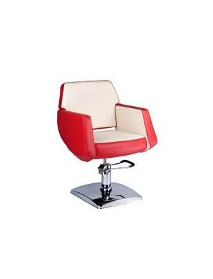 Fotel fryzjerski NICO czerwony-kremowy BD-1088