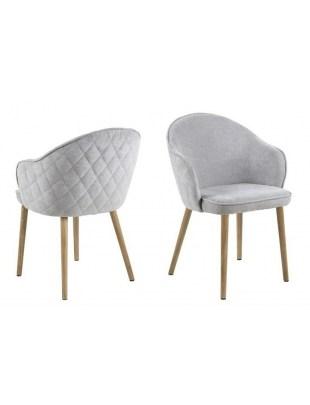Krzesło Mitzie Wood Szare