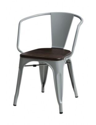 Krzesło Paris Arms Wood szare sosna szcz otkowana