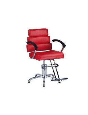 Fotel fryzjerski FIORE czerwony BR-3857