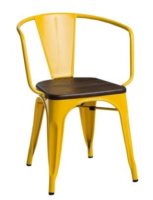 Krzesło Paris Arms Wood żółte sosna szcz otkowana