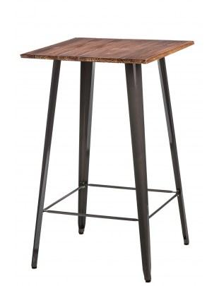Stół Barowy Paris Wood metaliczny sosna