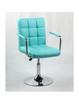 MIRACLE - fotel fryzjerski turkusowy