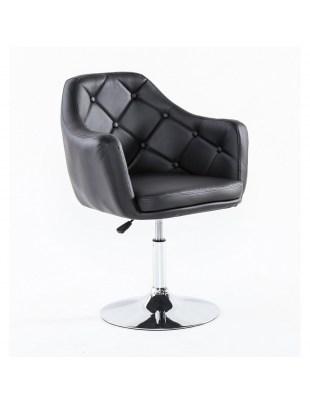 DERMEA - fotel fryzjerski czarny