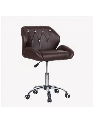ZESTA - fotel fryzjerski z kółkami brązowy