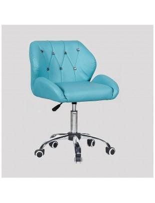 ZESTA - fotel fryzjerski z kółkami turkusowy