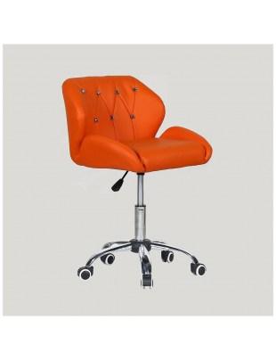 ZESTA - fotel fryzjerski z kółkami pomarańczowy