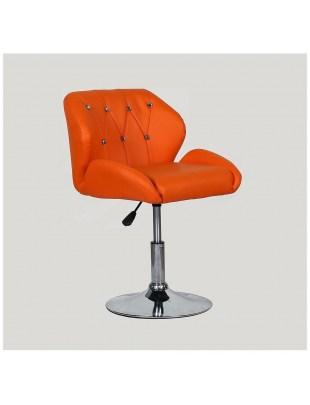 ZESTA - fotel fryzjerski pomarańczowy