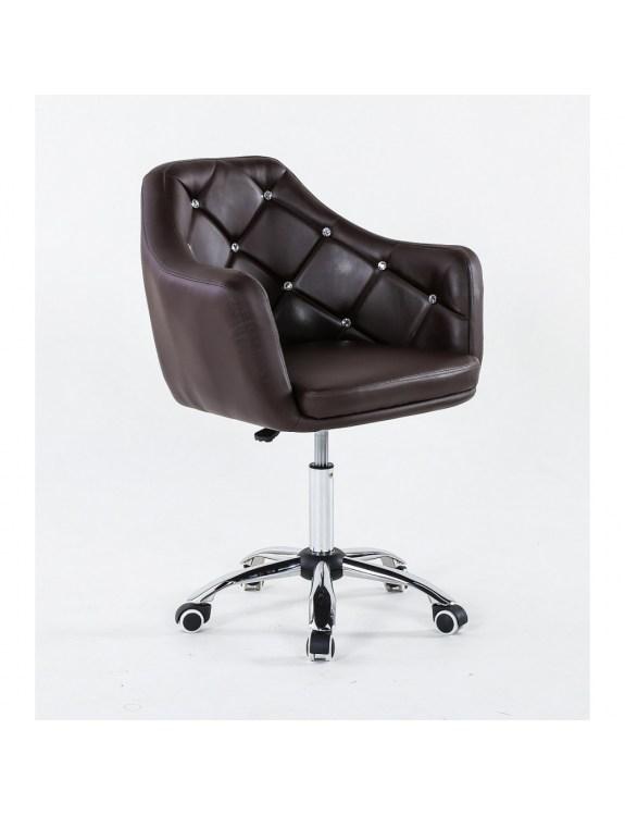 MELUA - fotel kosmetyczny z kółkami czekoladowy