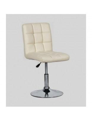 CARLOS - fotel fryzjerski kremowy