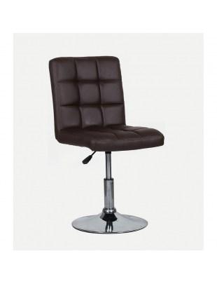 CARLOS - fotel fryzjerski brązowy