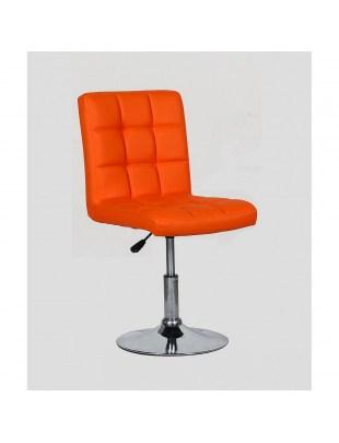 CARLOS - fotel fryzjerski pomarańczowy