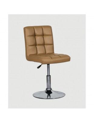 CARLOS - fotel fryzjerski karmelowy