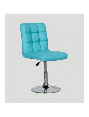 CARLOS - fotel fryzjerski turkusowy