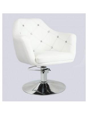 Blink LUX - fotel fryzjerski biały