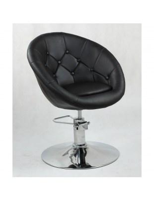 BOL LUX- Fotel fryzjerski czarny hydrauliczny