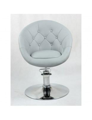 BOL - Fotel fryzjerski szary hydrauliczny