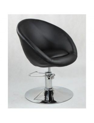 BOL - Fotel fryzjerski czarny hydrauliczny