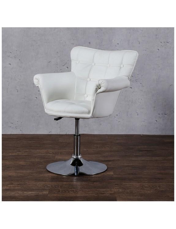 LORA  - Fotel fryzjerski biały
