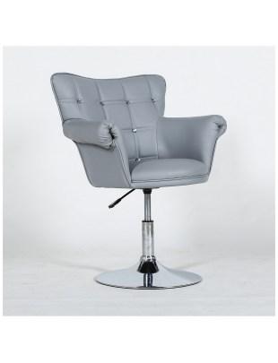LORA  - Fotel fryzjerski szary