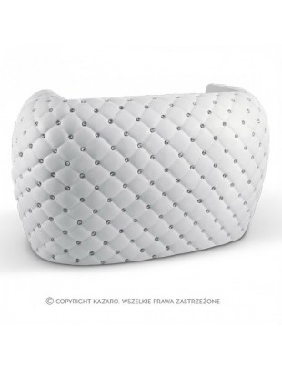 Biała recepcja pikowana glamour - DIAMANTE