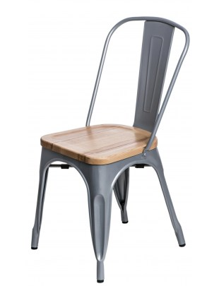 Krzesło Paris Wood szare jesion