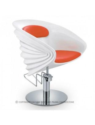 Nowoczesny fotel fryzjerski - czerwony - ORIGAMI