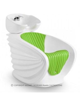 Nowoczesna myjnia fryzjerska - zielona - ORIGAMI