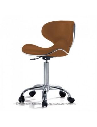 Głęboki taboret Krzesło kosmetyczne brązowe - COMFORT