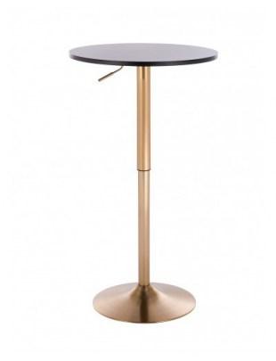 VOLA - Okrągły stolik obrotowy - czarny, złoty dysk