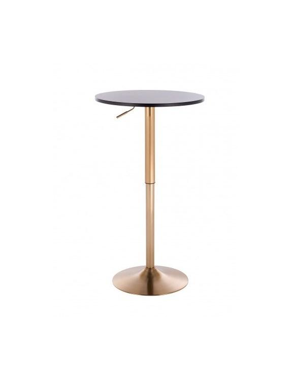 VOLA - Okrągły stolik obrotowy - czarny - złoty dysk