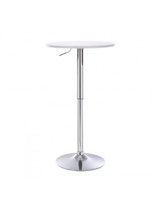 VOLA - Okrągły stolik obrotowy - biały, czarny dysk