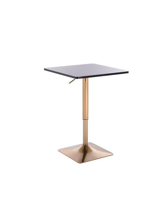 VOLA - Kwadratowy stolik obrotowy - czarny, złoty kwadrat