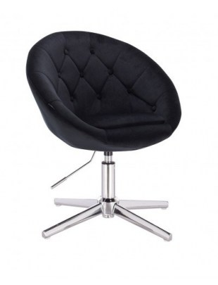 Blom - krzesło kosmetyczne czarny welur