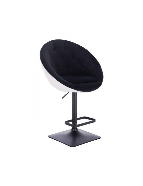 Blom - Krzesło kosmetyczne CZARNY WELUR, białe