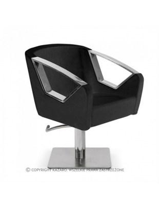 LUXURY - Fotel fryzjerski czarny