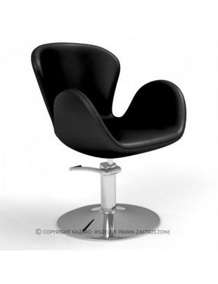 Czarny fotel fryzjerski AQUA
