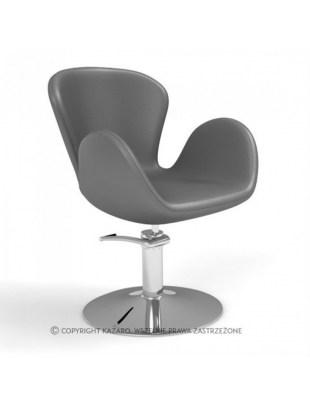 Grafitowy geometryczny fotel fryzjerski AQUA