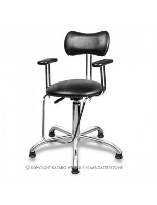 Czarny fotel fryzjerski dla Dzieci SIMPLY
