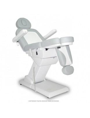 Fotel Kosmetyczny S-LUX-Duo - biały/popiel