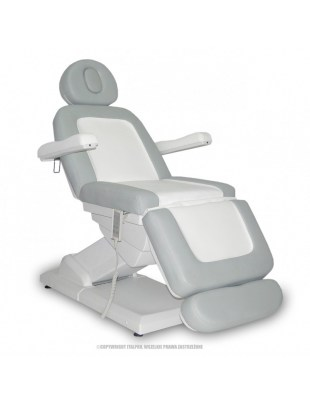 S-LUX - Fotel Kosmetyczny - biały/popiel