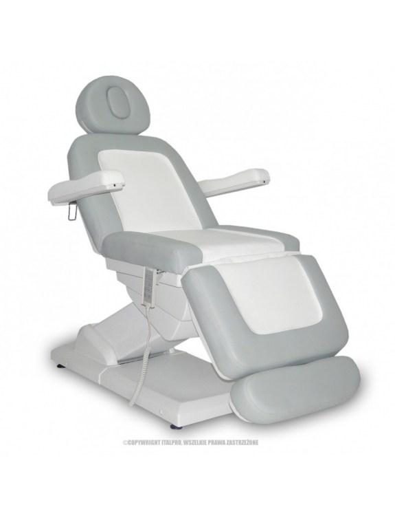 Fotel Kosmetyczny S-LUX - biały/popiel