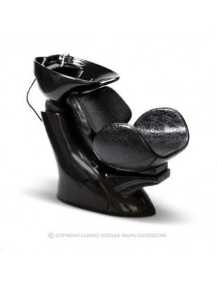 AQUA - Myjnia fryzjerska czarna - czarny krokodyl