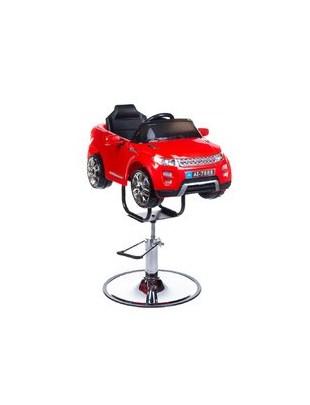Dziecięcy fotel fryzjerski Range Rover czerwony
