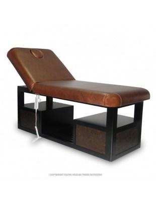 SPA-100 - leżanka/ łózko do masażu - brąz